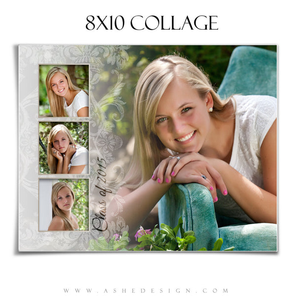 Senior Girl Collage 8x10 | Faded