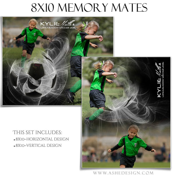 Ashe Design | Sports Memory Mates | Photoshop Templates | 8x10 | Mystic Explosion | Soccer