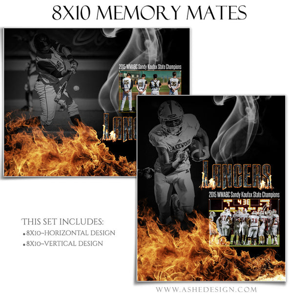 Inferno 8x10 Sports Memory Mates Templates