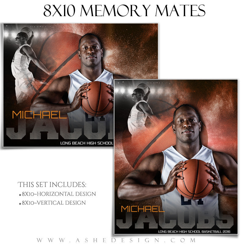 Sports Memory Mates 8x10 - Powder Explosion Basketball – AsheDesign