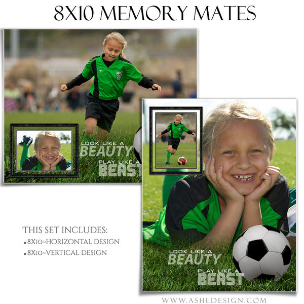 Ashe Design | Sports Memory Mates | 8x10 | Beauty And The Beast Soccer