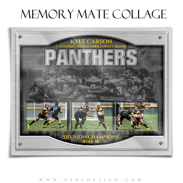 Sports Memory Mates 8x10 | On Display Triptych hz rugby