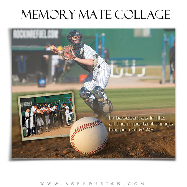 Sports Memory Mates 8x10 | Home Plate hz