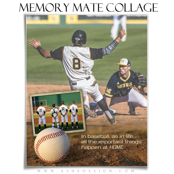 Sports Memory Mates 8x10 | Home Plate vt