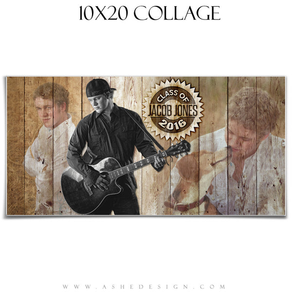 Ashe Design | Amped Senior Collage | 10x20 | Branded