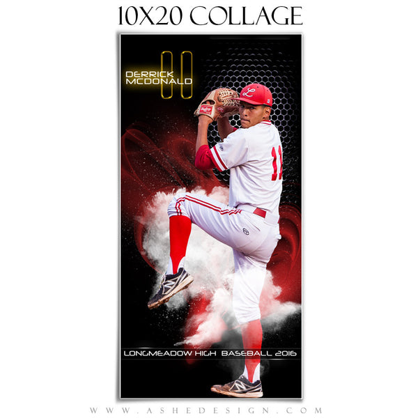 Ashe Design | Amped Sports Collage | 10x20 | Screen Play