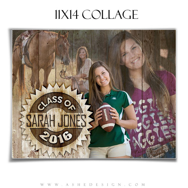Ashe Design | Amped Senior Collage | 11x14 | Branded
