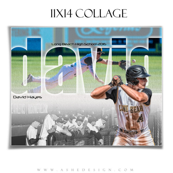 Ashe Design | Amped Sports Collage |11x14 | Between The Lines