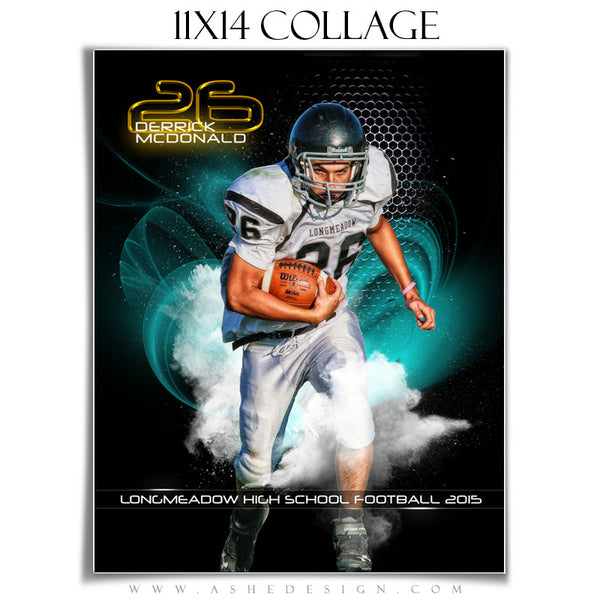 Ashe Design | Amped Sports Collage | 11x14 | Screen Play