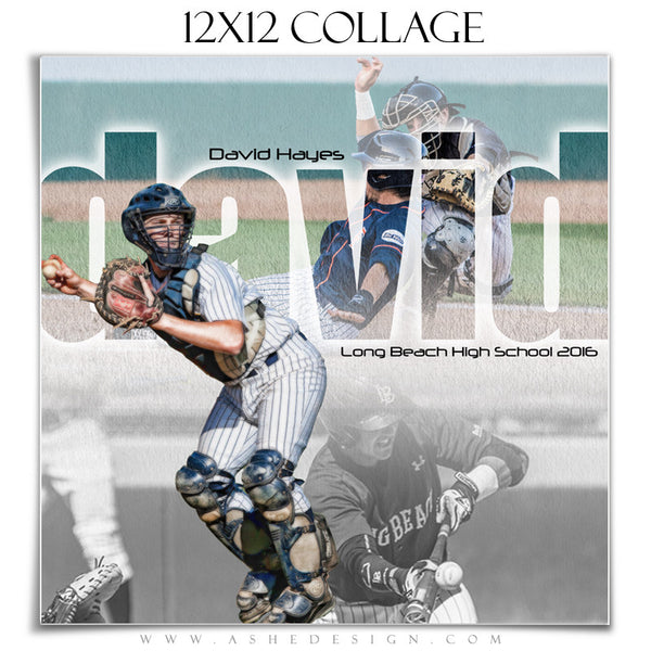 Ashe Design | Amped Sports Collage | 12x12 | Between The Lines