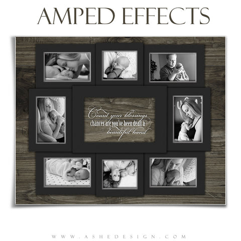 Ashe Design | Amped Effects | 16x20 Poster | Photoshop Templates | Count Your Blessings