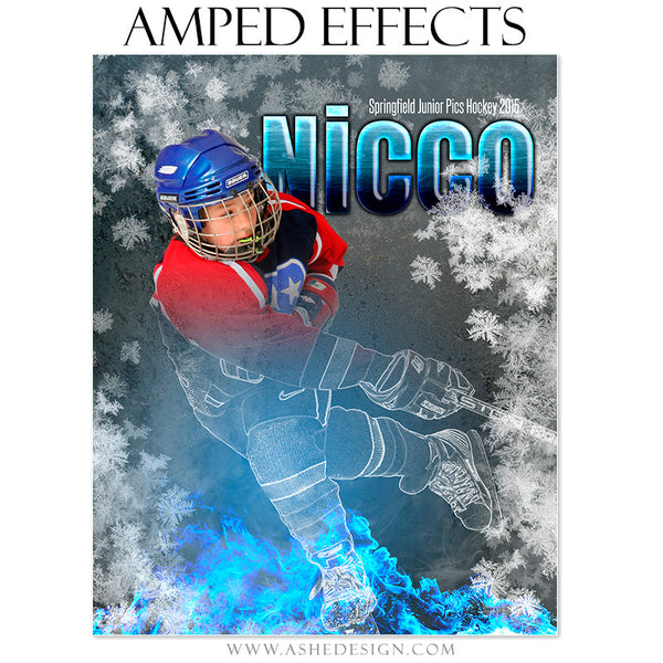 Ashe Design | Amped Effects Templates - Freeze Frame hockey