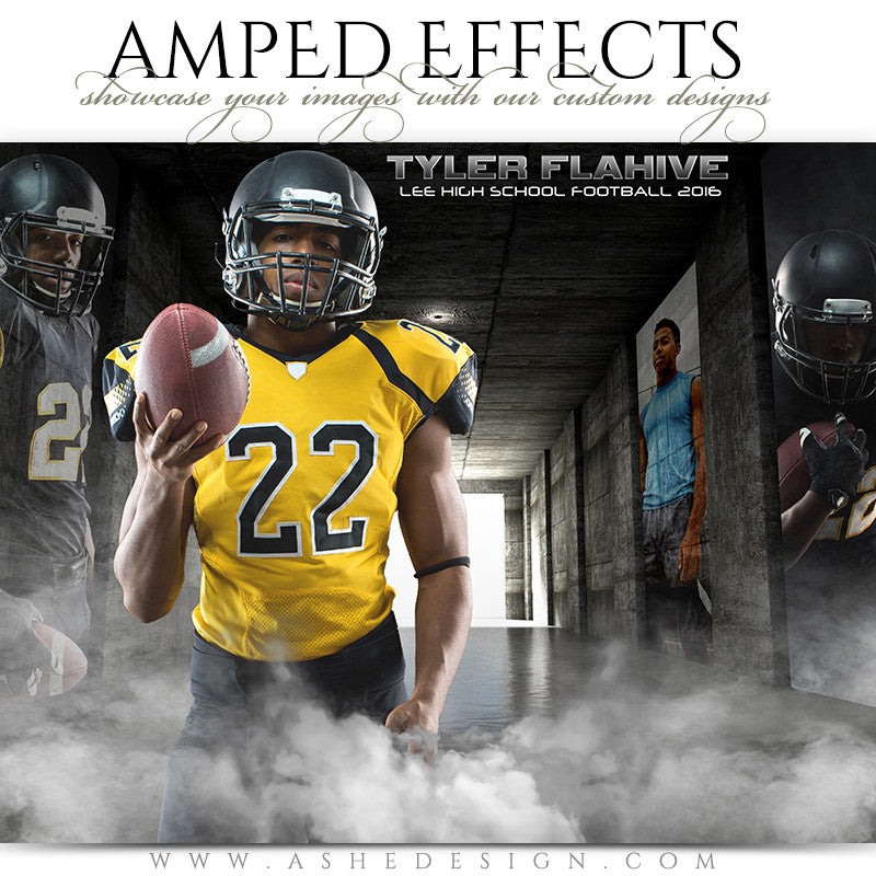 Ashe Design | Amped Effects | Photoshop Templates | Sports Poster16x20 | Hall Of Fame Tunnel