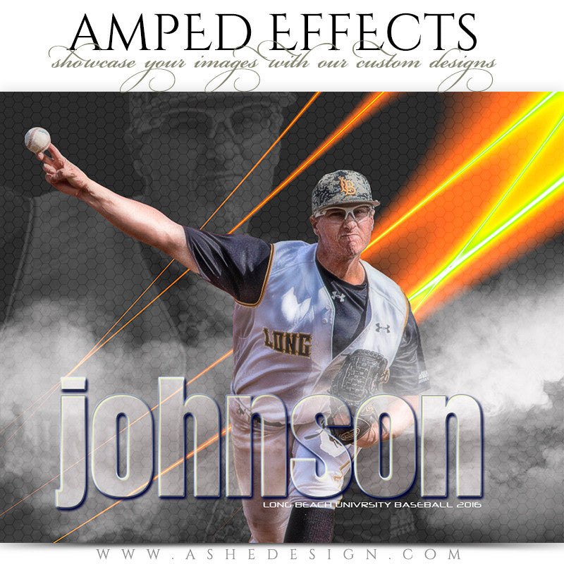 Ashe Design | Amped Effects | Photoshop Templates | Sports Posters | Laser Focus | Baseball