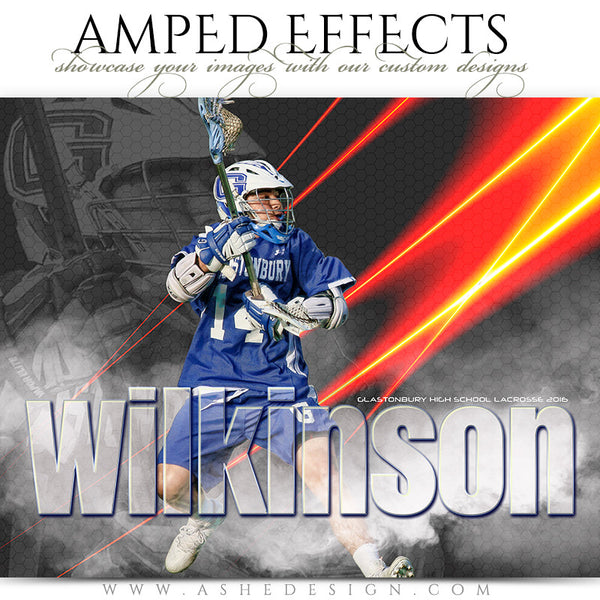 Ashe Design | Amped Effects | Photoshop Templates | Sports Posters | Laser Focus | Lacrosse