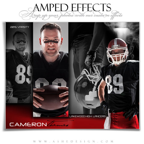 Ashe Design | Amped Effects | Photoshop Templates | Sports Poster16x20 | Contender