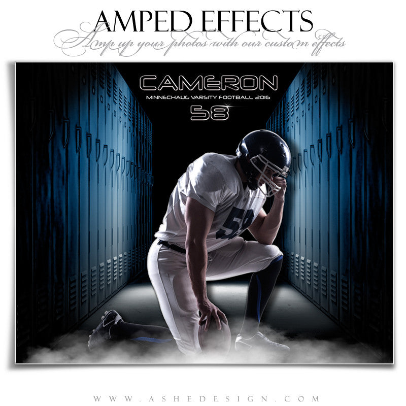 Ashe Design | Amped Effects | Photoshop Templates | Sports Posters | Locker Room