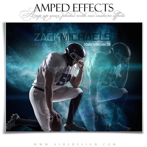 Ashe Design | Amped Effects | Photoshop Templates | Sports Posters | Powder Explosion