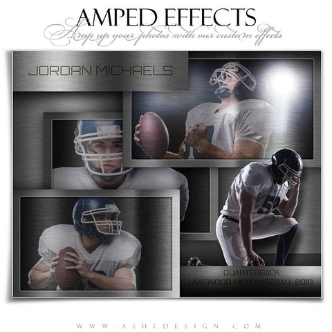 Ashe Design | Amped Effects | Photoshop Templates | Sports Posters | Sheet Metal