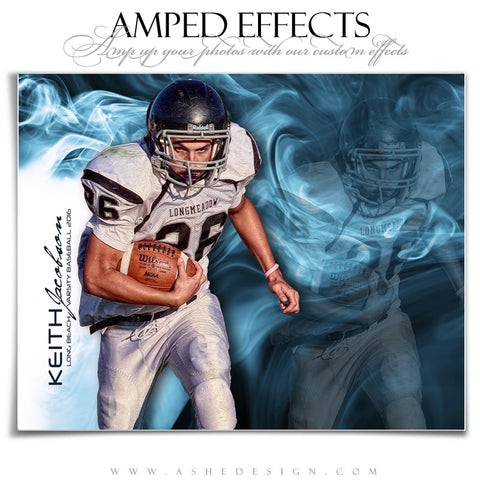 Ashe Design | Amped Effects | Photoshop Templates | Sports Posters | Smoke And Mirrors | Football
