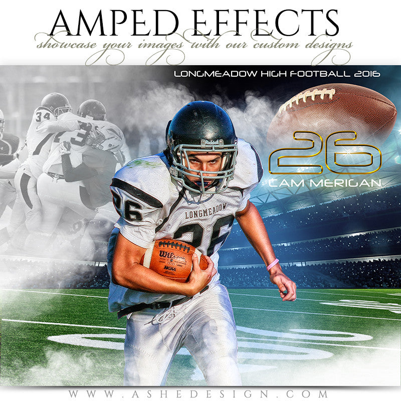 Ashe Design | Amped Effects Sports Poster | Full Steam Football
