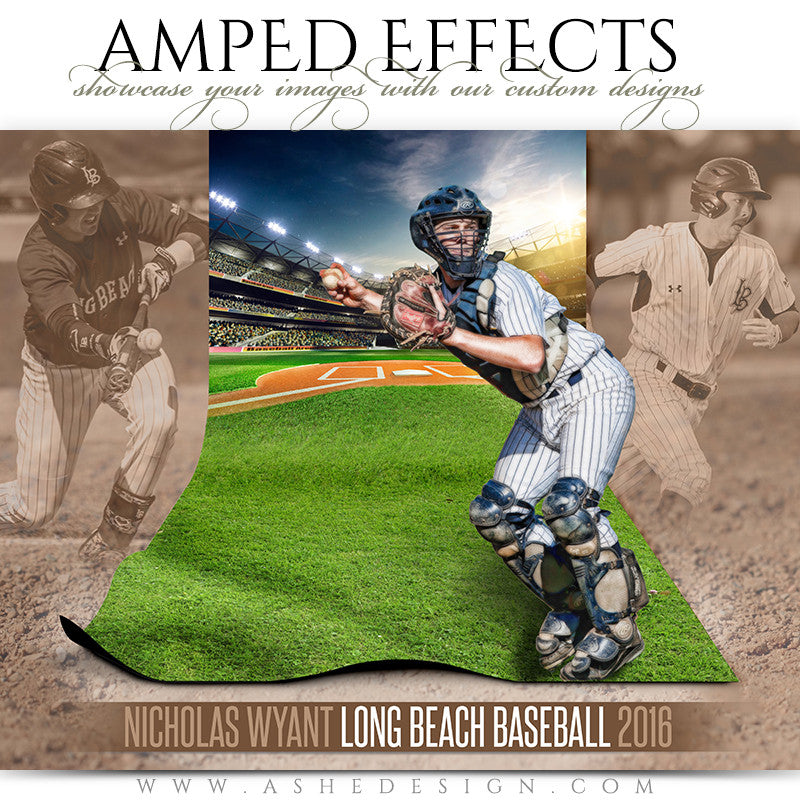 Ashe Design | Amped Effects | Sports Poster | Magic Carpet | Baseball