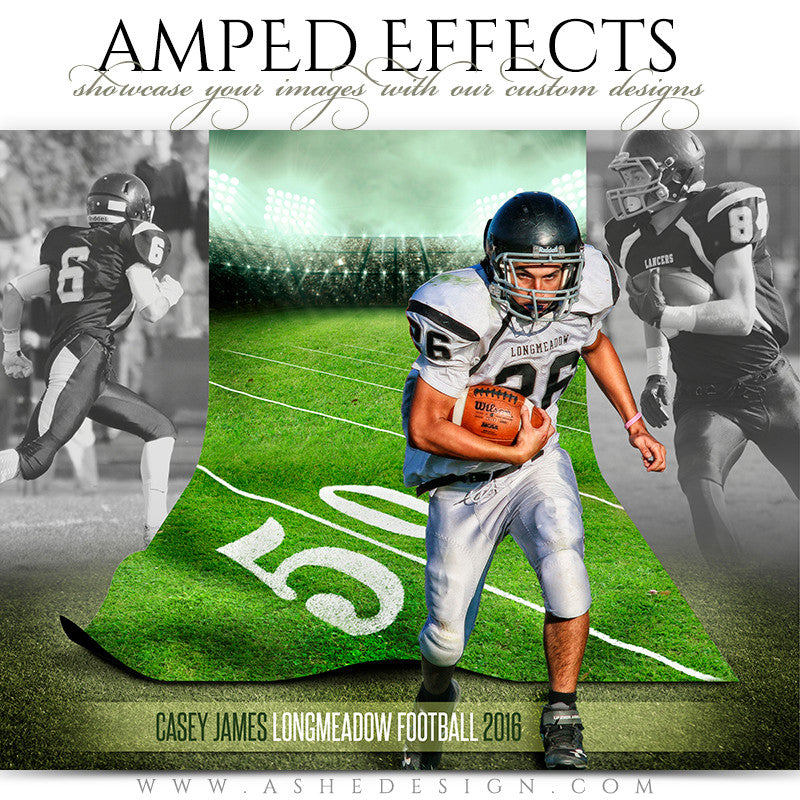 Ashe Design | Amped Effects | Sports Poster | Magic Carpet | Football