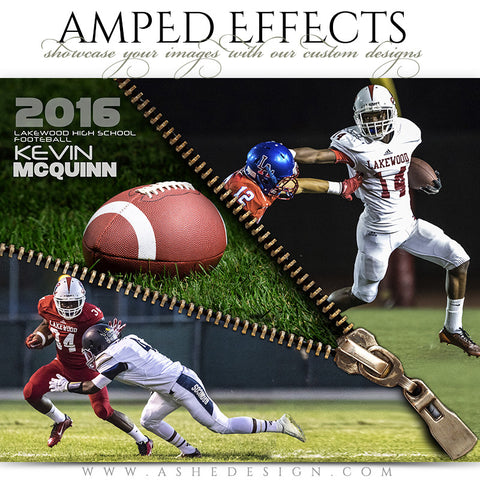Ashe Design | Amped Effects | Zipped Football