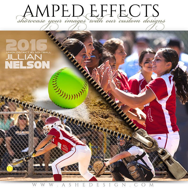 Ashe Design | Amped Effects | Zipped Softball