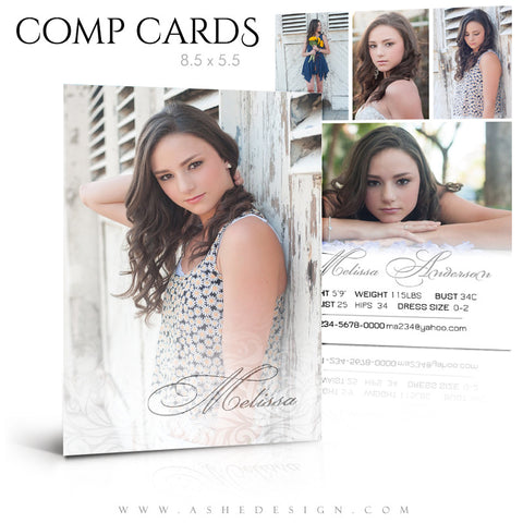 Modeling Comp Card 8.5x5.5 | A Touch Of Class