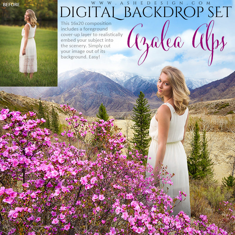 Ashe Design | Digital Backdrop Set | Azalea Alps