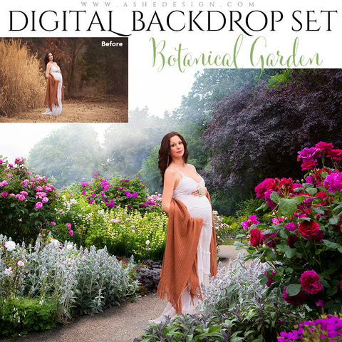 Ashe Design | Digital Backdrop Set | Botanical Garden