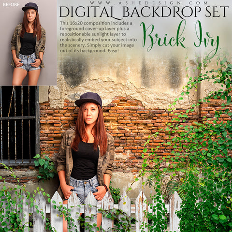 Ashe Design | Digital Backdrop Set | Brick Ivy