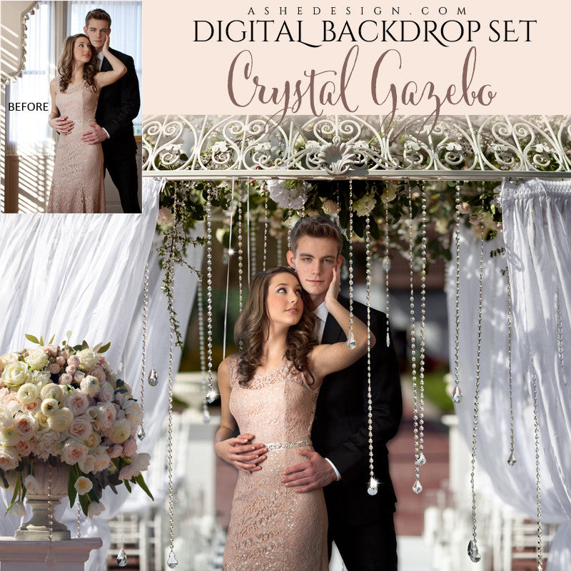 Ashe Design | Digital Backdrop Set | Crystal Gazebo