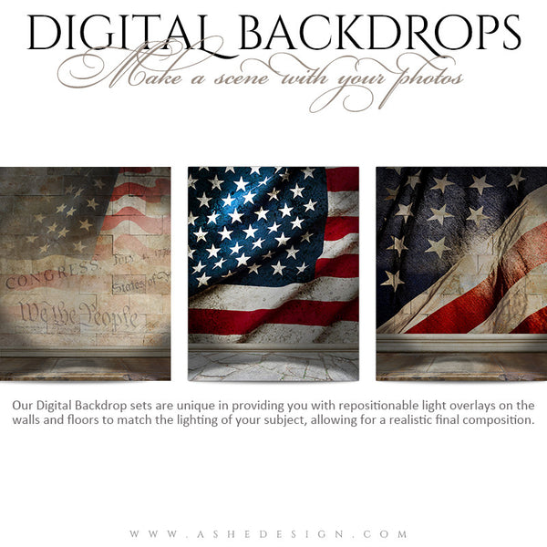 Ashe Design | Digital Backdrops | 16x20 | American Stone examples