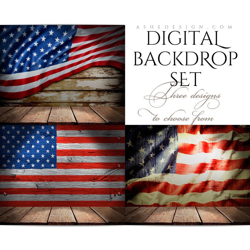 Ashe Design | Digital Backdrops | 16x20 | American Wood