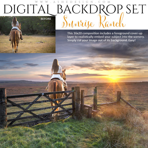 Ashe Design | Digital Backdrop Set | Sunrise Ranch
