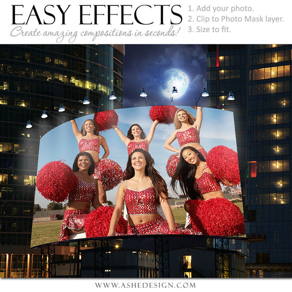 Ashe Design | Easy Effects | Billboard Big City Night | Cheer Leading