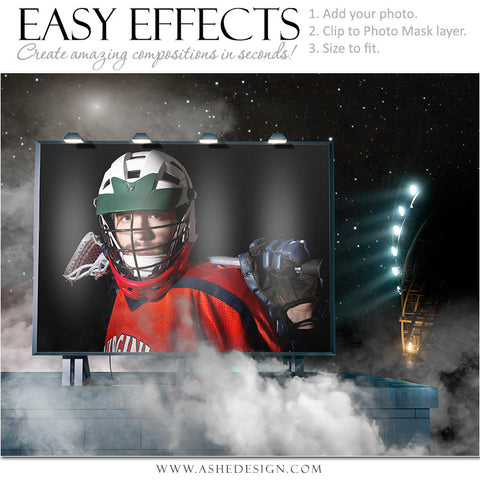 Ashe Design | Easy Effects | Lacrosse Posters | Billboard Up In Smoke