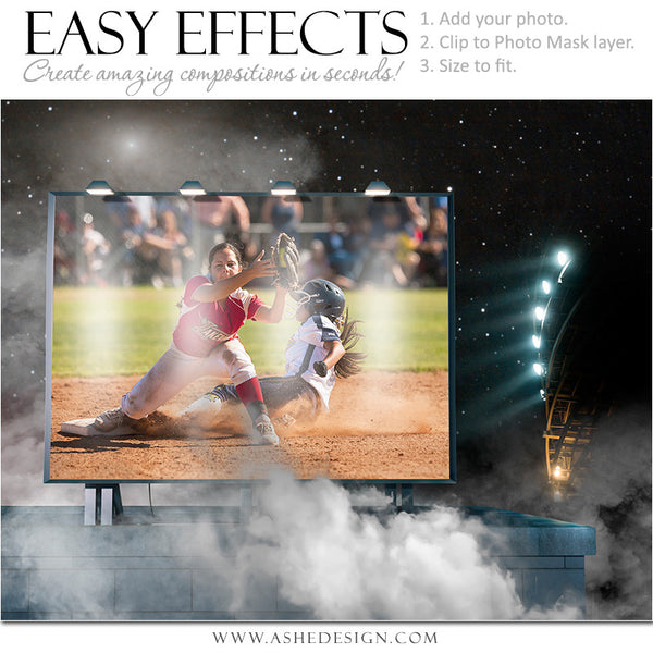 Ashe Design | Easy Effects | Softball Posters | Billboard Up In Smoke