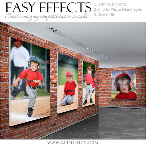 Ashe Design | Easy Effects | Photoshop Poster Template | Brick Gallery
