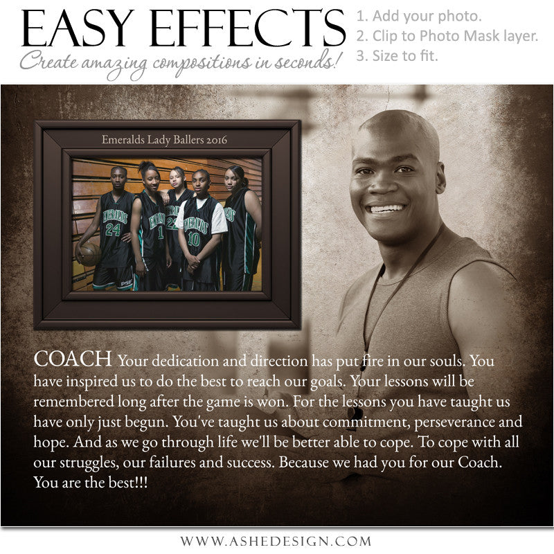 Ashe Design | Easy Effects Posters | 8x10 | 16x20| Head Coach (Gift)