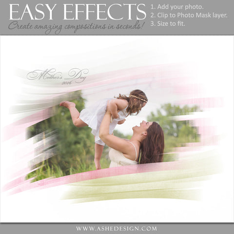 Ashe Design | Easy Effects | Painted Mask Poster | Mom