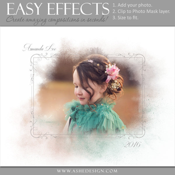Ashe Design | Easy Effects | Powder Mask Poster | Child