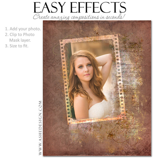 Ashe Design | Photoshop Poster Templates | Easy Effects | Seniors