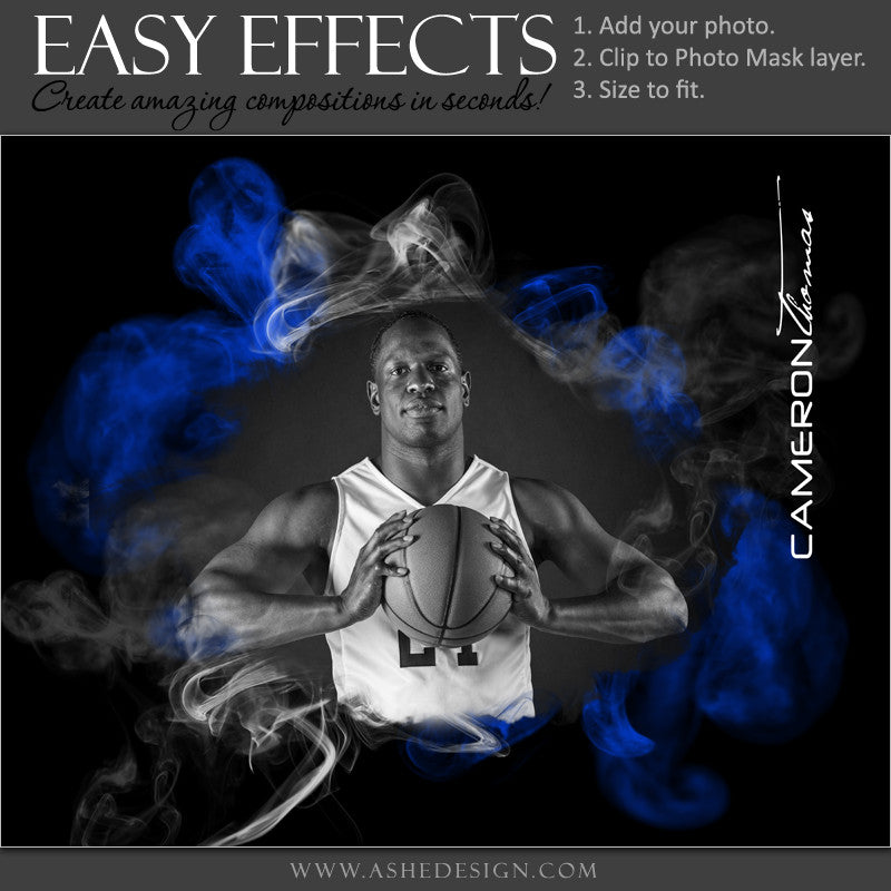 Ashe Design | Easy Effects Posters | 8x10 | 16x20 | Up In Smoke |Basketball