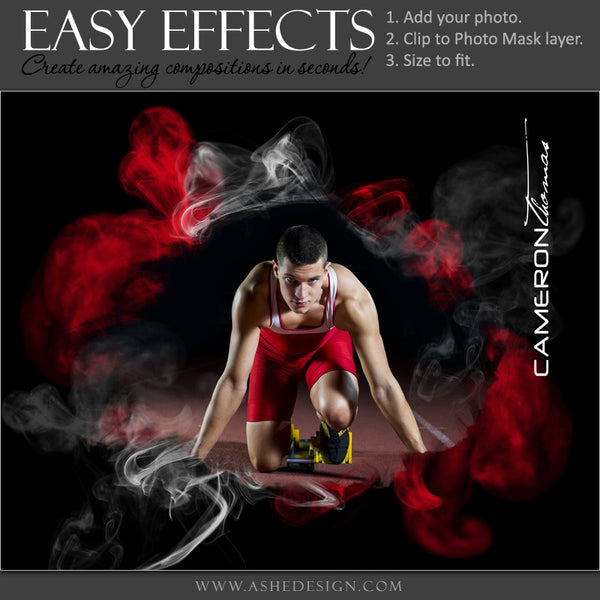 Ashe Design | Easy Effects Posters | 8x10 | 16x20 | Up In Smoke | Track