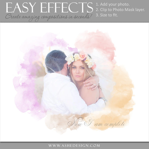Ashe Design | Easy Effects | Watercolor Mask Poster