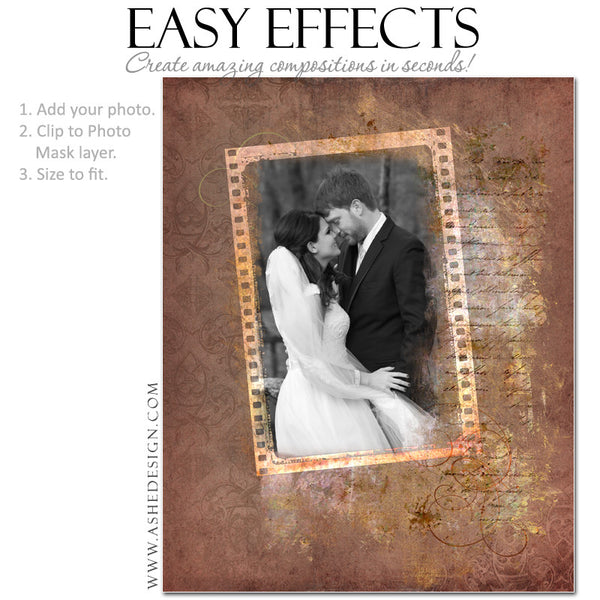 Ashe Design | Photoshop Poster Templates | Easy Effects | Wedding