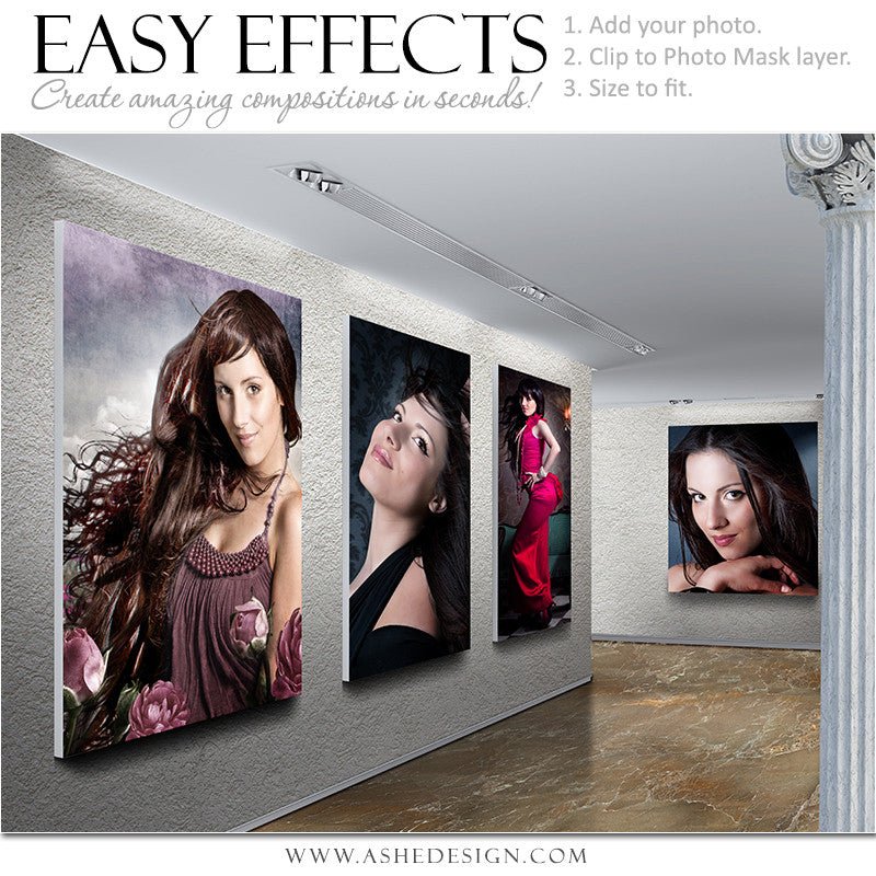 Ashe Design | Easy Effects | Photoshop Poster Template | Stone Gallery